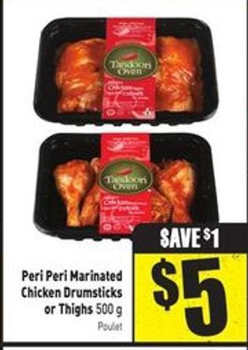 Peri Peri Marinated Chicken Drumsticks or Thighs 500 g