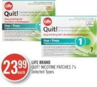 Life Brand Quit! Nicotine Patches 7's