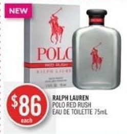 Ralph Lauren Polo Red Rush Eau De Toilette 75ml