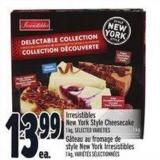Irresistibles New York Style Cheesecake