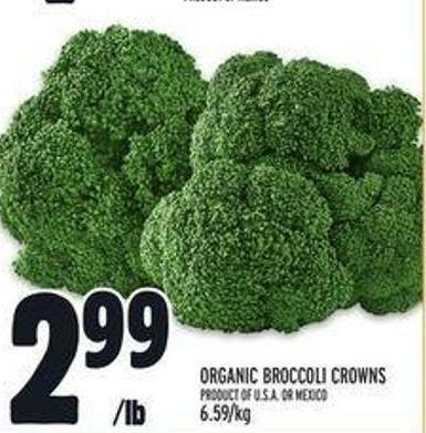 Organic Broccoli Crowns