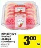 Kimberley's Frosted Cookies Strawberry - Pkg Of 10