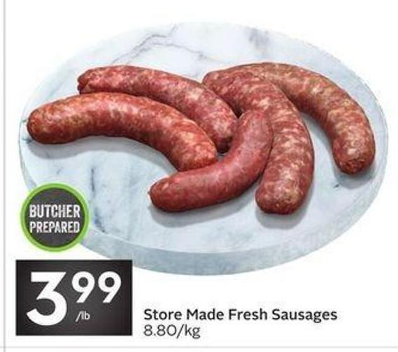 Store Made Fresh Sausages
