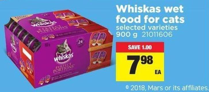 Whiskas Wet Food For Cats - 900 G