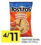 Tostitos Tortilla Chips 210-295 g