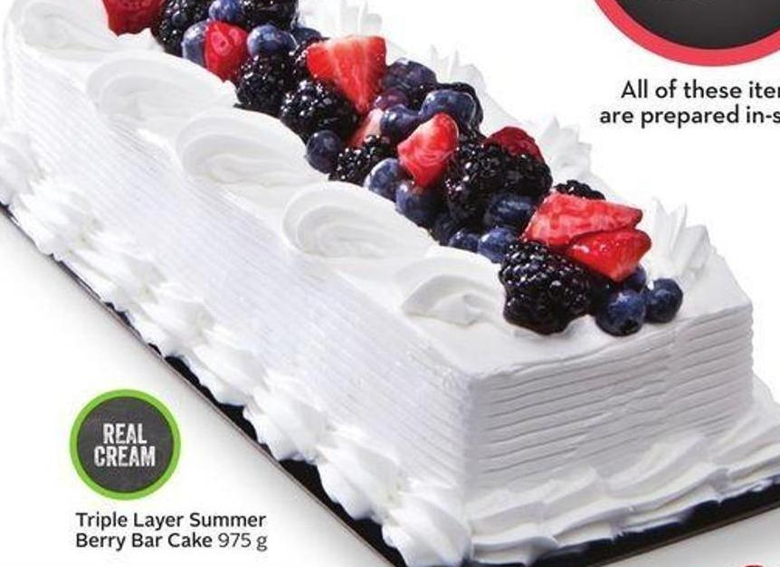 Triple Layer Summer Berry Bar Cake