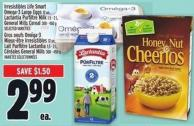 Irresistibles Life Smart Omega-3 Large Eggs 12 Un. - Lactantia Purfiltre Milk 1.5 - 2 L - General Mills Cereal 300 - 450 G