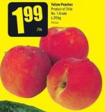 Yellow Peaches Product of Chile No. 1 Grade 4.39/kg