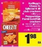 Kellogg's Cheez It - Special K Or Club Crackers - 113-391 G Or Pepperidge Farm Goldfish Crackers - 156-227 G/6x28 G