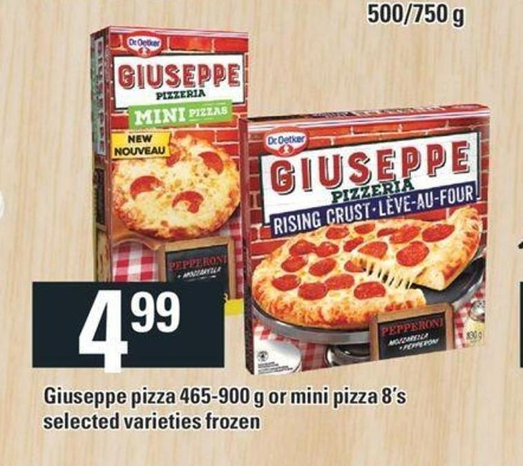Dr Oetker Giuseppe Pizza 465-900 G Or Mini Pizza 8's