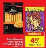 Black Diamond Cheesestrings 12-pack or 16-pack