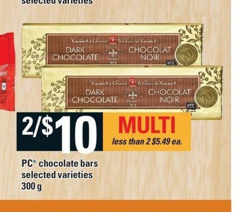 PC Chocolate Bars - 300 G