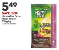 Morning Star Farms  Veggie Burgers  268g Pkg