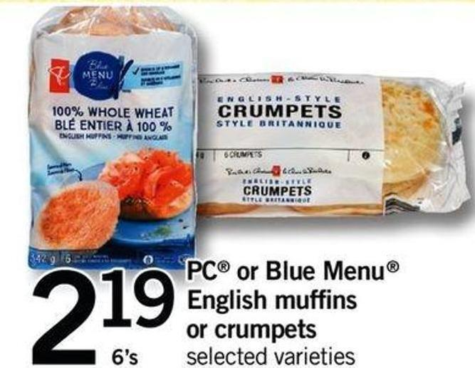 PC Or Blue Menu English Muffins Or Crumpets - 6's