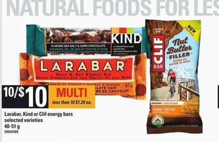Larabar - Kind Or Clif Energy Bars - 40-51 G