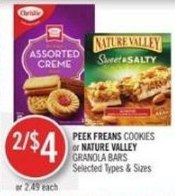 Peek Freans Cookies or Nature Valley Granola Bars