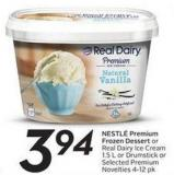 Nestlé Premium Frozen Dessert or Real Dairy Ice Cream 1.5 L or Drumstick or Selected Premium Novelties 4-12 Pk