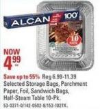 Selected Storage Bags - Parchment Paper - Foil - Sandwich Bags - Half-steam Table 10-pk