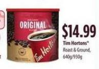 Tim Hortons Roast & Ground