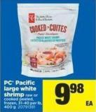 PC Pacific Large White Shrimp - 31-40 Per Lb - 400 g