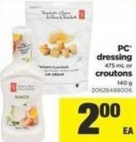 PC Dressing - 475 Ml Or Croutons - 140 G