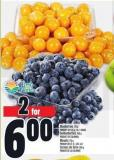Blueberries 170 G Product Of U.S.A. - No. 1 Grade Goldenberries 200 G Product Of Colombia