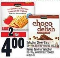 Selection Chewy Bars 125 - 175 g