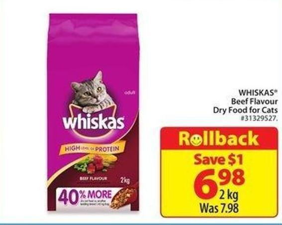 Whiskas Beef Flavour Dry Food For Cats