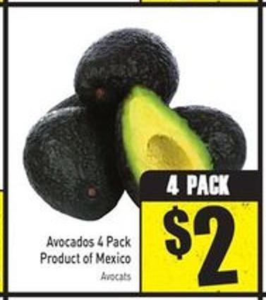 Avocados 4 Pack Product of Mexico