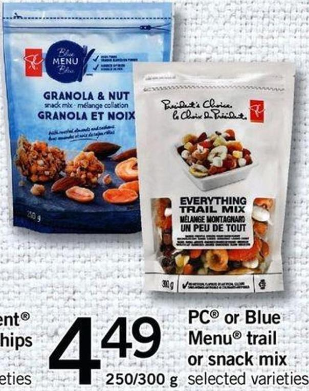 PC Or Blue Menu Trail Or Snack Mix - 250/300 G