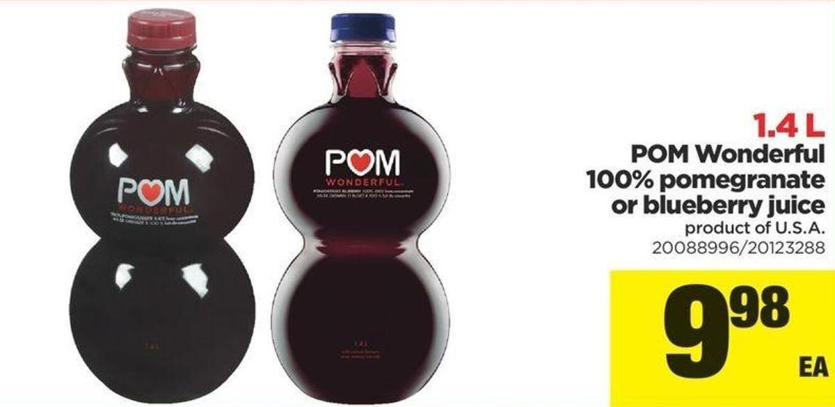 POM Wonderful 100% Pomegranate Or Blueberry Juice - 1.4 L