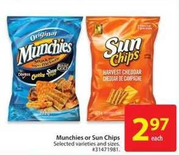 Munchies or Sun Chips