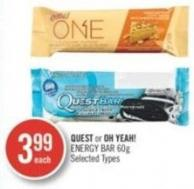 Quest or Oh Yeah! Energy Bar 60 g