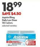 Aspirin 81mg Daily Low Dose