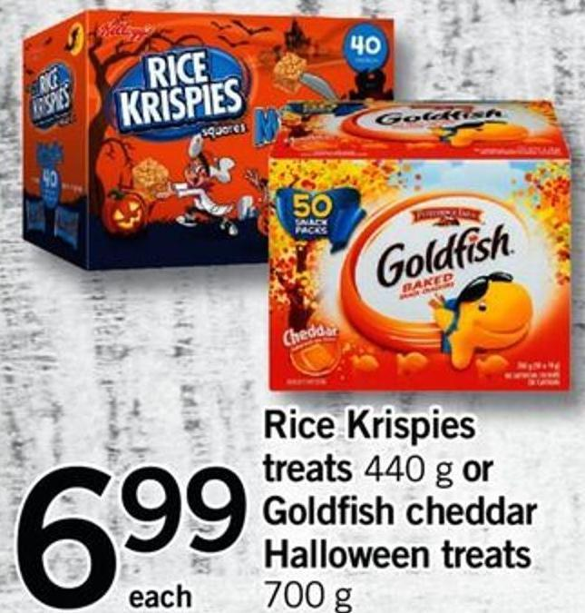 Rice Krispies Treats - 440 G Or Goldfish Cheddar Halloween Treats - 700 G