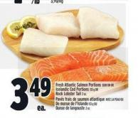 Fresh Atlantic Salmon Portions Skin On Or Icelandic Cod Portions Or Rock Lobster Tail
