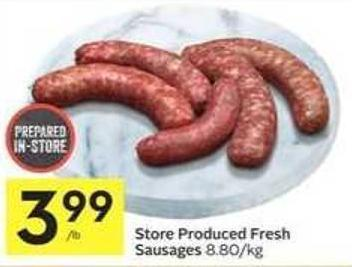 Store Produced Fresh Sausages