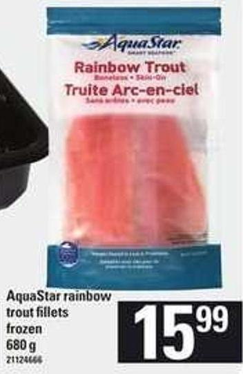 Aquastar Rainbow Trout Fillets - 680 g