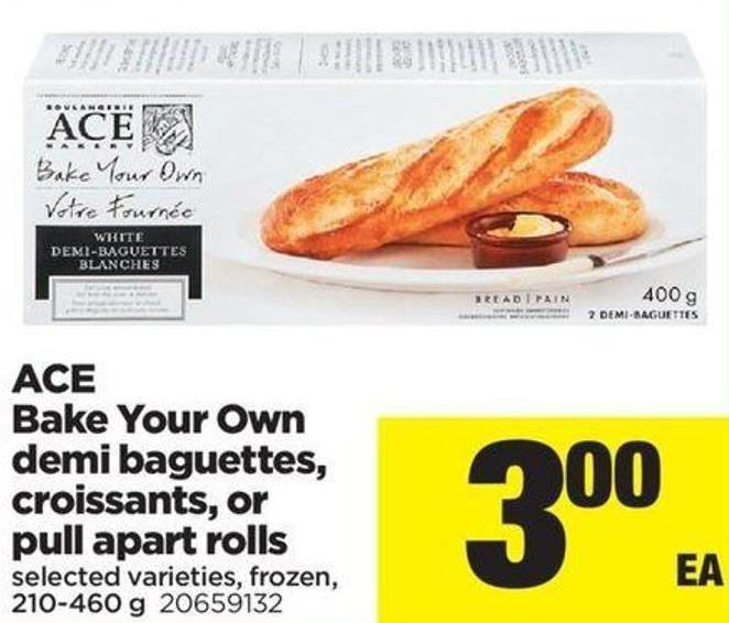 Ace Bake Your Own Demi Baguettes - Croissants - Or Pull Apart Rolls - 210-460 G
