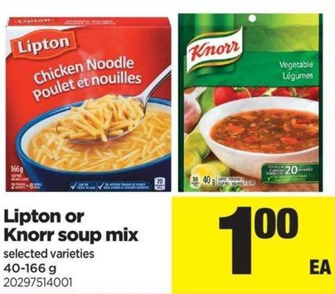 Lipton Or Knorr Soup Mix - 40-166 G