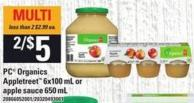 PC Organics Appletreet 6x100 Ml Or Apple Sauce 650 Ml
