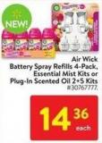 Air Wick Battery Spray Refills 4-pack Essential Mist Kits or Plug-in Scented Oil 2+5 Kits