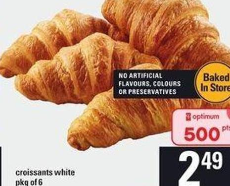 Croissants White - Pkg of 6