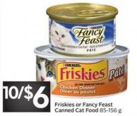 Friskies or Fancy Feast Canned Cat Food