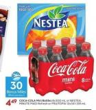 Coca-cola Mini Bottles 8x300 mL or Nestea - Minute Maid Refresh or Fruitopia 12x341-355 mL