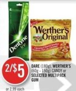 Dare (180g) - Werther's (60g - 150g) Candy or Selected Multipack GUM