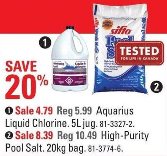 Sifto High-purity Pool Salt