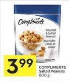 Compliments Salted Peanuts 600 g