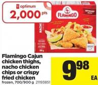 Flamingo Cajun Chicken Thighs - Nacho Chicken Chips Or Crispy Fried Chicken - 700/900 g
