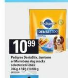 Pedigree Dentastix - Jumbone Or Marrobone Dog Snacks - 396 G-1.9 Kg / 5x100 g